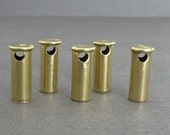 22 Caliber Bullet Beads - Side Drilled Shell Casings - Lot of 5 - Drilled