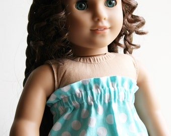 American Girl Doll Clothes - Strapless Dress in Aquamarine