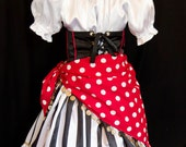 Girl's DELUXE PIRATE Costume Custom Size