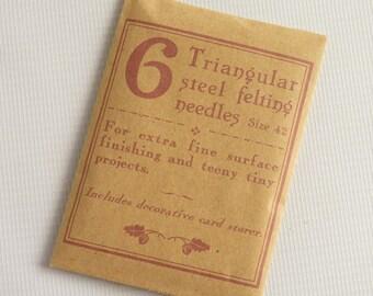 Pack of 6 TRIANGULAR felting needles size 42, triangle needles, triangular needles, needle felting needles, fine felting needles
