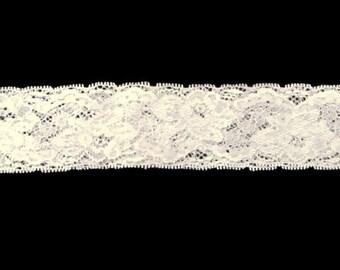 Custom Sized White Stretchy Lace Garter/ Headband