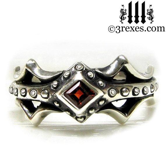 Fairy Princess Engagement Ring Garnet Size 6
