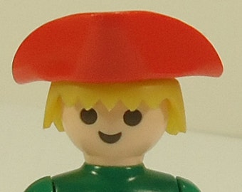 Vintage Playmobil Red Tricorne Pirate Hat Adult Size 3542, 5868, 5808, 5737, 4432  Replacement Part Piece