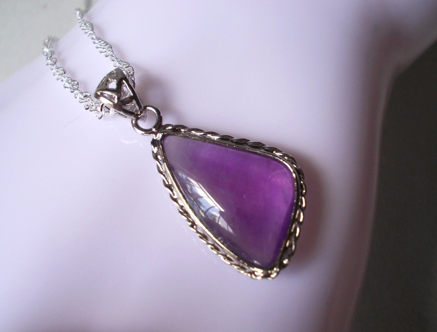 amethyst stone necklace - photo #31