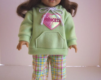 American Girl Doll Clothes- Hoodie with PJ's