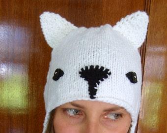 ARCTIC FOX hand knit hat --- bobcathats