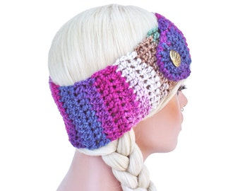 Gypsy Crochet Ear Warmer Headband