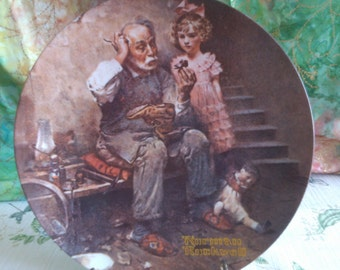 Norman Rockwell Plate, Shoemaker Plate by Knowles