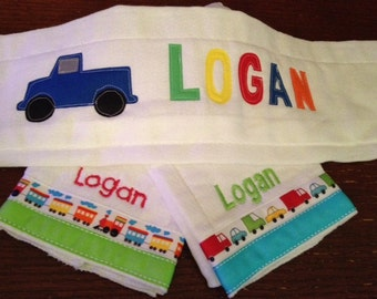 Great New Baby Gift... Set of 3 Personalized Baby Boy Burp Cloths