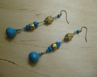 Insouciant Studios Deco Turquoise Earrings