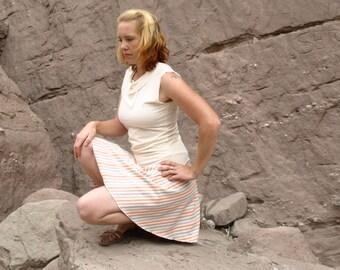 SALE! Organic Cotton & Hemp Short Skater Skirt