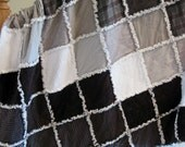 Cotton Flannel Rag Quilt with Chenille - Gift Idea