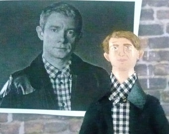 Martin Freeman Doll Miniature Fan Art Collectible