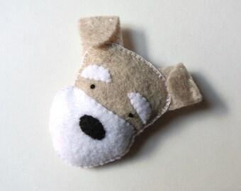Schnauzer Pin One of a Kind Handmade Gift for Dog Lover Schnauzer Felt Brooch Miniature Schnauzer Brooch Cute Dog Felt Pin Fashion Accessory