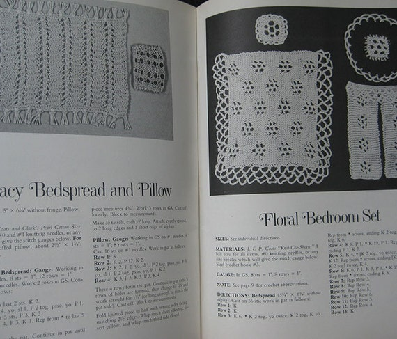 Miniature Crocheting and Knitting for Dollhouses Pattern Book by Rosemary Dry...