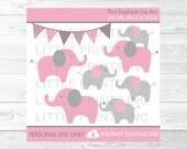 Pink Elephant Clipart PER...