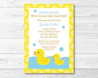 Rubber Duck Baby Shower Invitation PRINTABLE A391