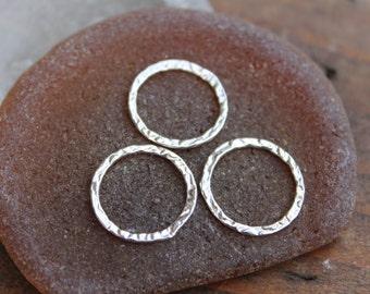 Links Medium Sterling Silver 15mm Three