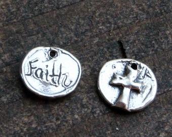 Cross Faith Sterling Silver Charm