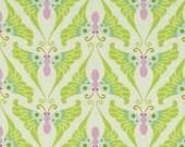 Heather Bailey Lottie Da Papillon Lime Fabric, 1 Yard