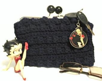 Cosmetic Bag Coin Purse Navy Blue Clutch Syle Handbags Women Accessories