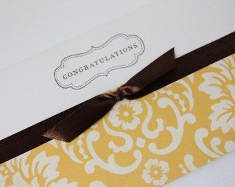 Mustard & Bow Congratulations Gift Card-Money or Voucher Holder