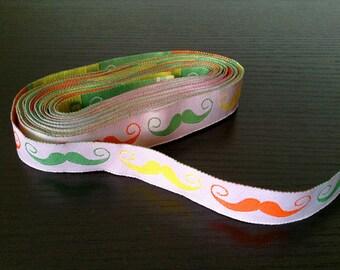 16mm x 1yard (moustache) woven ribbon (S703)