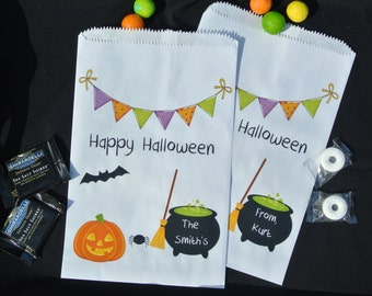 Halloween Favor Bags |  Halloween Candy Bags |  Candy Bags | Halloween Treat Bags | Printed Bags | Halloween Paper Bags | Halloween favors