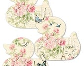 Instant Download - Shabby Chic Duck Tags -  Printable Digital Collage Sheet - Digital Download