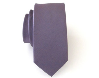 Mauve Tie. Necktie Mauve Dusty Light Portobello Purple Skinny Tie With Matching Pocket Square Option