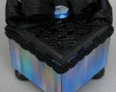 Blues Multi Stripe Trinket Keepsake Decorative Box