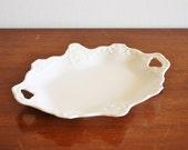 Vintage white porcelain vanity tray