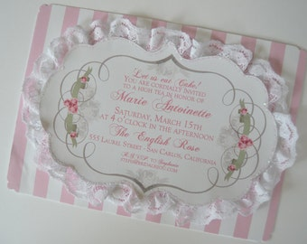 Marie Antoinette Lace Invitations