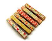 Altered Clothespin  Clips  Decorative  Wooden Clothespins in Sweetest Thing