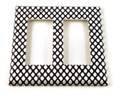 Double Rocker Light Switch Cover Wall Decor Light Switchplate Switch Plate in  Fishnet  |087DR|