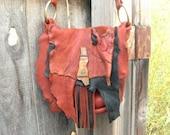 Spirit of the storm - elkhide and deerskin purse