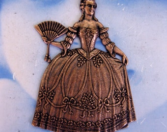 Marie Antoinette Stamping Copper Ox Plated 381COP x1