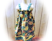 SALE - Girls Spring Sun Dress in Whimsical Daisy Print