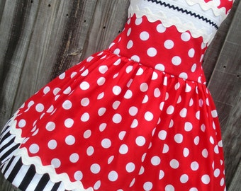 Made to Order Custom Boutique Red Dot Minnie Disney Dress Mickey Girl Dress 2 3 4 5 6 7 8
