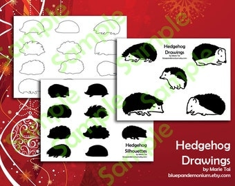 Hedgehog Clip Art - Silhouette, Outline, Drawing