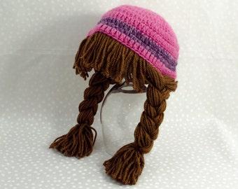 Crochet Baby Wig Hat Cabbage Patch Hat Kids Halloween Costume