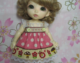 Dots Pink Dress for Pukifee / Lati Yellow