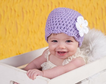 30 Colors Baby Girl Hat 6 to 9 Month Baby Hat Crochet Flower Hat Flapper Beanie Flapper Hat Baby Girl Clothes Photo Prop Photography Prop