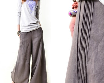 Moon forgot - linen skirt pants (K1206b)
