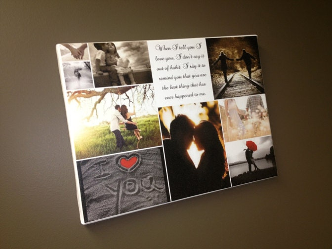 Storyboard Collage Canvas Personalized Words Text Quote