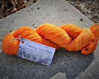 Semi-Solid Orange - Merino/Nylon Superwash Sock Yarn