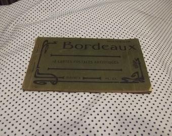 Souvenir Booklet of 11 Bordeaux France Sepia Postcards