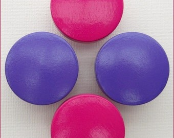 Hand Painted Knobs • Hot Pink • Purple • Dresser Drawer Knobs • Sweet Petites Boutique • Trending Nursery Collections