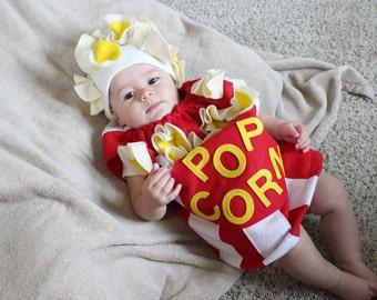 Baby Popcorn Costume Toddler Newborn Halloween Costume Photo Prop
