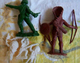 vintage plastic toy figurines